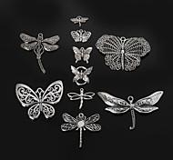 beadia mariposa de metal&colgantes del encanto de la libélula de plata antiguos accesorios de la joyería de bricolaje