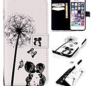 namorados de infância padrão de relevo couro pu caso da carteira com suporte e suporte de cartão para iphone6 / 6s