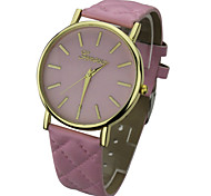 Unisex's Brief  Fashion  Round Dial PU  Band Quartz Analog Geneva  Wrist Watch(Assorted Color) Cool Watches Unique Watches