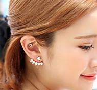 Women's Fashion Five Pearl Pentagram Stud Earrings