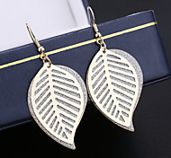 Product Best-selling Fashion Joker Earrings Multi-Level Hollow Out Ms Leaf Earrings