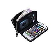 les lignes multi-fonction porte-cartes en cuir véritable spécialement conçu tricot étui pour iPhone 6 plus 6s / iphone en plus