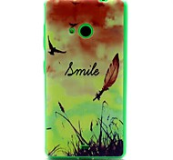 For Nokia Case Ultra-thin Case Back Cover Case Feathers Soft TPU Nokia Nokia Lumia 535