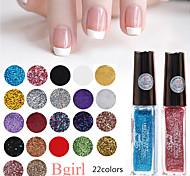 1PCS 10ML BGIRL Glitter Flower Nail Polish