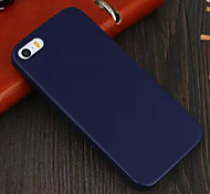 For iPhone 5 Case Other Case Back Cover Case Solid Color Hard PU Leather iPhone SE/5s/5
