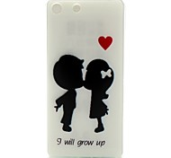 I Will Grow Up Words Phrase Pattern 0.6mm Ultra-Thin Soft Case for Sony M5