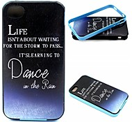 2-in-1 Dance In The Rain Pattern TPU Back Cover + PC Bumper Shockproof Soft Case For iPhone 4/4S