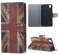 Vintage UK Flag PU Leather Wallet Case for Alcatel OneTouch Idol 3 (4.7)