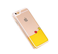 Deluxe Happy Fish Swimming Liquid PC Transparent Hard Back Cover for iPhone 6/6(Assorted Colors)