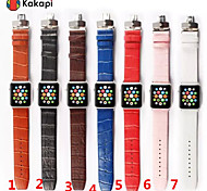 Kakapi Double Buckle Alligator Pattern Watchband With The Connector for Apple iWatch 38/42mm  Assorted Colors