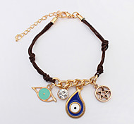 European Style Fashion Cartoon Funny Star Eye Pendant Bracelet