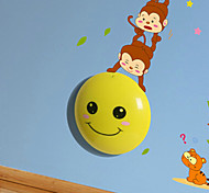 0.6W 220V Wall stickers Monkeys light-activated intelligent  induction led smetope adornment wall lamp 35*21.5CM