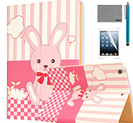 LEXY® Bunny's Dreams Pattern PU Leather Flip Stand Case with Screen Protector and Stylus for iPad Air 2/iPad 6