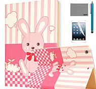 rêves motif pu le cas du stand de cuir flip de lapin lexy® avec protecteur d'écran et un stylet pour iPad air 2 / ipad 6