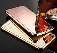 KX Brand Gold Version Metal Frame Acrylic All Mirror Backplane Metal Hard Case for Phone 6S Plus