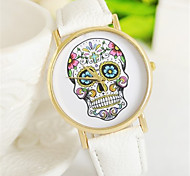 Halloween Gift Skeleton Leather Watch Videos (Assorted Colors)