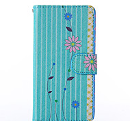 Chrysanthemum Pattern PU Leather Full Body Case with Stand for Nokia N640