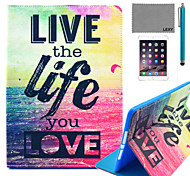 LEXY® Love Life Pattern PU Leather Flip Stand Case with Screen Protector and Stylus for iPad Mini 4