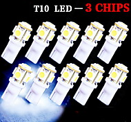 10 X LED Xenon White Wedge T10 5050 5-SMD Light bulbs 192 168 194 W5W 2825 158