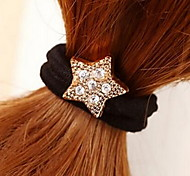 Pentagon Star Rhinestone Hair Ties Jewelry