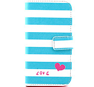 Love Pattern PU Leather Case with Money Holder Card Slot for Wiko Lenny