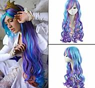 50cm lunghi donne ondulate di colore Cosplay anime a buon mercato la mia piccola principessa celestia cosplay parrucche delle donne