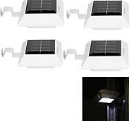 youoklight® 4pcs 0.5W 4-LED de luz branca luzes do painel de energia solar para a energia solar jardim luz da lâmpada-brancas