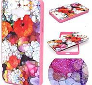 2-in-1-farbige Glasur Blumenmuster pc rückseitige Abdeckung mit pc Autostoßfest harter Fall für Samsung g530h