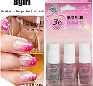Gradient Effect 3 Bottles of Nail Polish 6ml*3 Bottle 9 Color