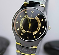 L.WEST Men's Steel Belt Analog Quartz Watch Wrist Watch Cool Watch Unique Watch