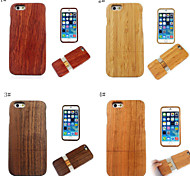 Unique Real Handmade Natural Wood Wooden Hard Bamboo Shockproof Case For iPhone 6(4.7)