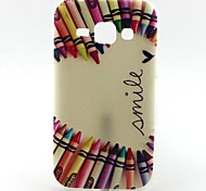Pencil Love Pattern TPU Soft Case for Samsung Galaxy J1