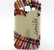 Pencil Love Pattern TPU Soft Case for Samsung Galaxy J1