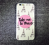 MAYCARI® Taking Me to Paris Transparent TPU Back Case for iPhone 6/iphone 6S