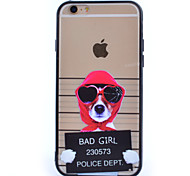 Red Hat Dog TPU and PC Material Combo Phone Case for iPhone 5/ 5S