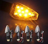 4pcs CARCHET 10 LEDs Motorcycle Turn Signal Light Bulb + Flasher Relay DC 12V 1W