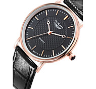 Men's Fashion Genuine Leather Water Resistant Quartz Watches