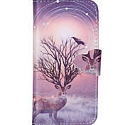 Star Antelope Pattern PU Leather Full Body Cover with Stand for iPhone 6/iPhone 6S