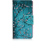 Apricot Tree Painted PU Phone Case for Sony Xperia Z5