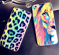 Leopard Color Lion Color Print Blue Light Reflective Blu-ray Soft TPU Case Cover for iphone 5/5s
