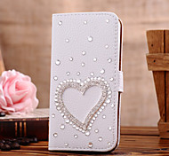Luxury Set Drill Handmade Diamond 3D PU Leather Full Body Case with Kickstand and Card Slot for iPhone 5C