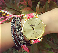 Fashion Women'S Watches Geneva Watches Weave Wrist Watch Gift idea Cool Watches Unique Watches