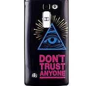 Color triangle eye Pattern TPU Phone Case for LG Leon  H340N/LG Spirit H422/Magna H502
