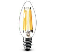 Lampandine a candela 6 COB SML C35 E14 / E12 6 W Intensità regolabile 600 LM Bianco caldo / Luce fredda 1 pezzo AC 220-240 / AC 110-130 V