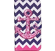 Anchor Painted PU Phone Case for Sony Xperia Z5 Compact