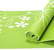 PVC Yoga Mats 17361*8 Pegajoso / Non Toxic 8.0 mm Rojo / Azul / Verde / Morado