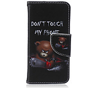 Don't Touch My Phone Pattern PU Leather Full Body Cover with Stand for iPhone5C