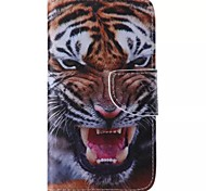 Tiger Style Cell Phone Leather For Samsung Galaxy S5