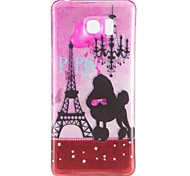 Glitter Eiffel Tower Pattern TPU Back Cover Case for Samsung Galaxy Note 5