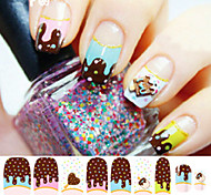 1pcs 3D Candy Ice Cream Nail Stickers